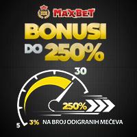MaxBet - Bonusi do 250%